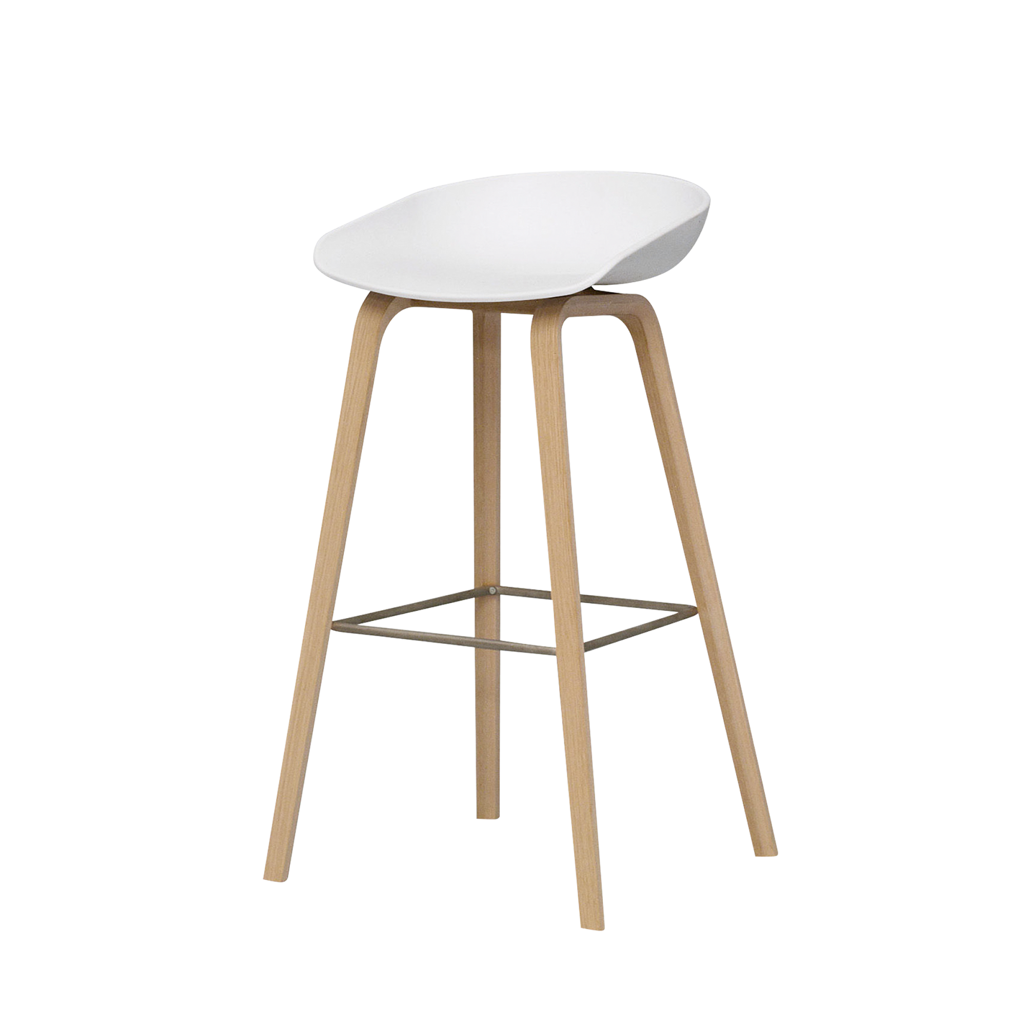 About A Stool Blanco Madera Alquiler
