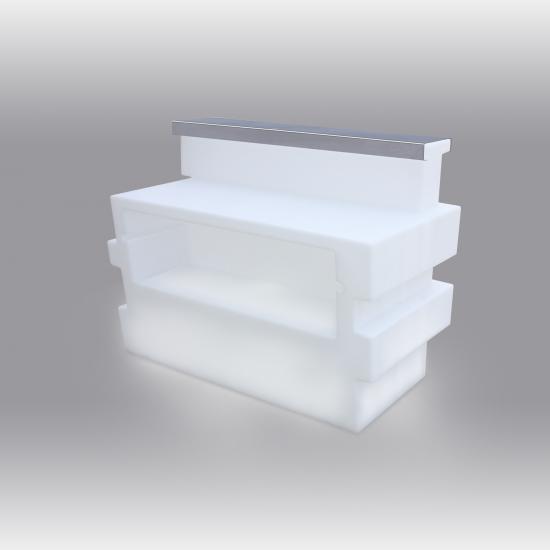 Tetris Bar with metal sheet and lighting